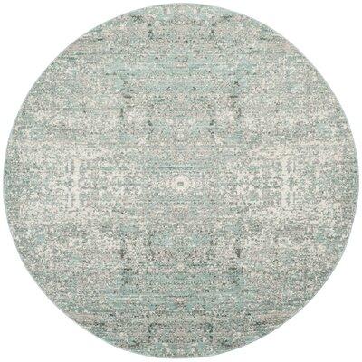 Celeta Teal Area Rug Rug Size: Round 67