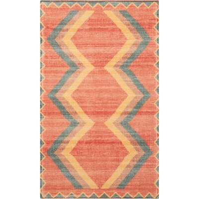 Joplin Tangerine Area Rug Rug Size: Rectangle 23 x 39