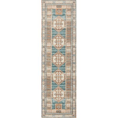 Joplin Teal/Green Area Rug Rug Size: Runner 22 x 76