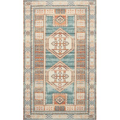 Joplin Teal/Green Area Rug Rug Size: Rectangle 23 x 39