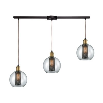 McEwan Industrial 3-Light Kitchen Island Pendant
