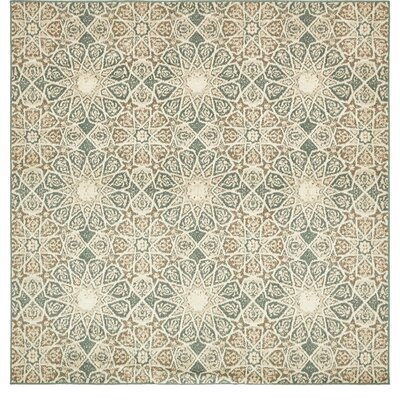 Kentville Rectangle Beige Area Rug Rug Size: Square 8