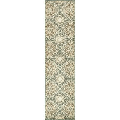 Kentville Rectangle Beige Area Rug Rug Size: Runner 26 x 10