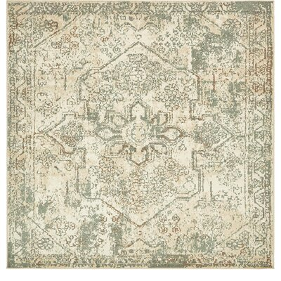 Kentville Cream/Brown Area Rug Rug Size: Square 8