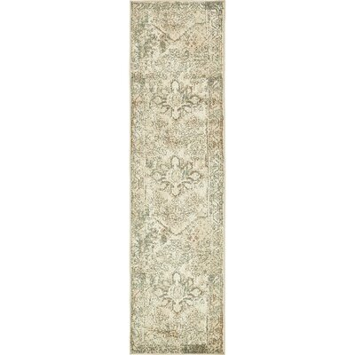 Kentville Cream/Brown Area Rug Rug Size: Runner 26 x 10