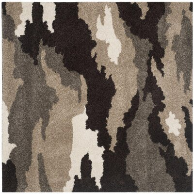 Hanover Beige/Brown Area Rug Rug Size: Square 5