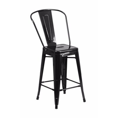 Jesse 24 Bar Stool Color: Black