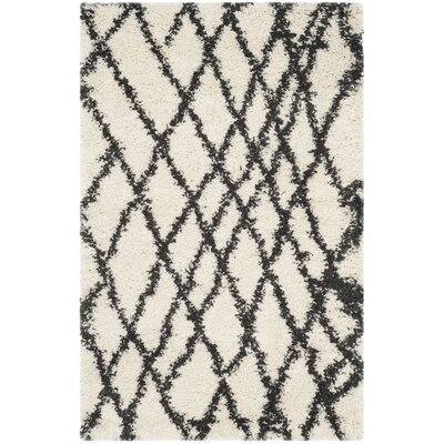 Malibu Ivory/Charcoal Area Rug Rug Size: Rectangle 3 x 5