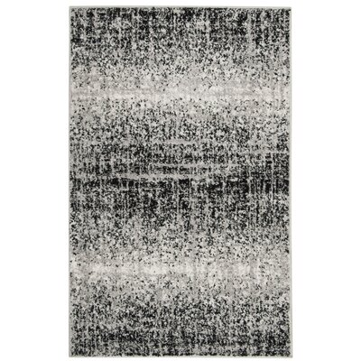 Costa Mesa Silver/Black Area Rug Rug Size: Rectangle 26 x 4