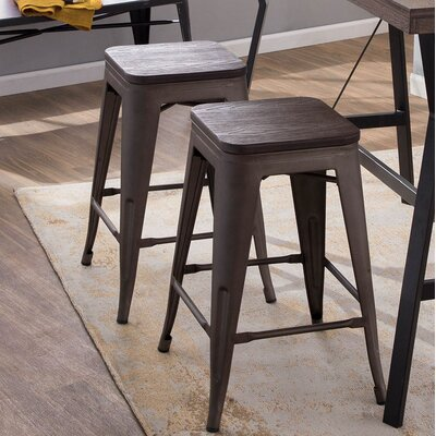 Claremont 24 Bar Stool Finish: Antique/Espresso