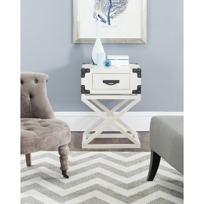 Agoura Hills Dunstan End Table With Storage� Color: White