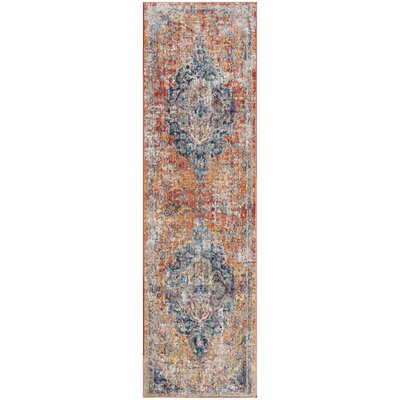 Arapaho Blue/Orange Area Rug Rug Size: Runner 23 x 6