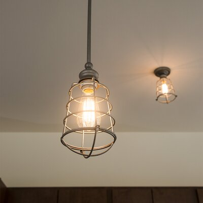 Leda 1-Light Mini Pendant Finish: Textured Coffee Bronze