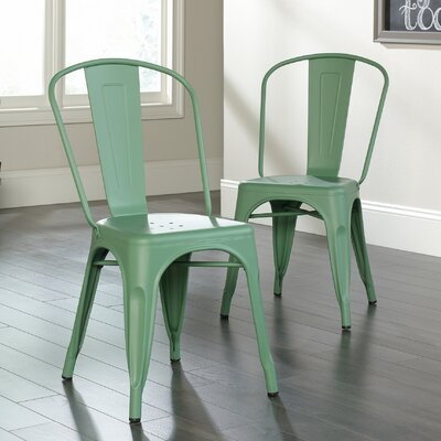 Cafe Side Chair Finish: Green