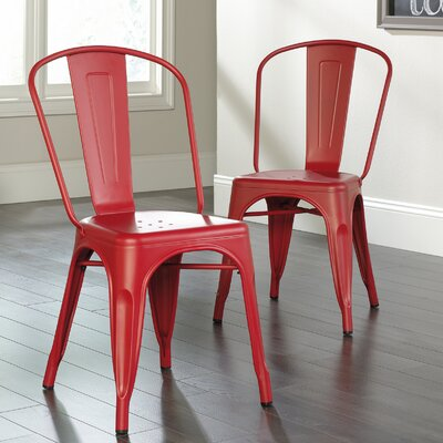 Cafe Side Chair Finish: Red
