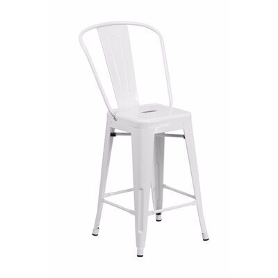 Jesse 24 Bar Stool Color: White