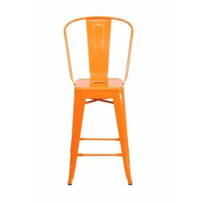 Jesse 24 Bar Stool Color: Orange