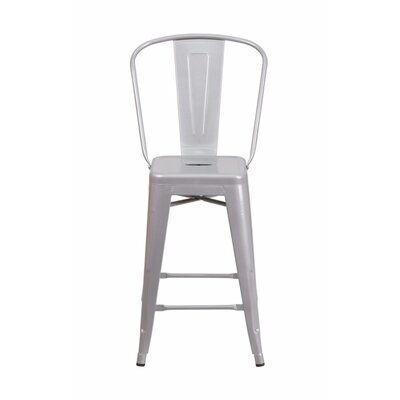 Jesse 24 Bar Stool Color: Silver