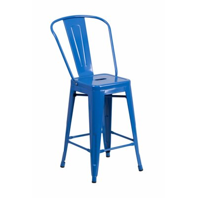 Jesse 24'' Bar Stool Color: Blue