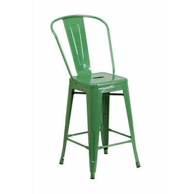 Jesse 24'' Bar Stool Color: Green