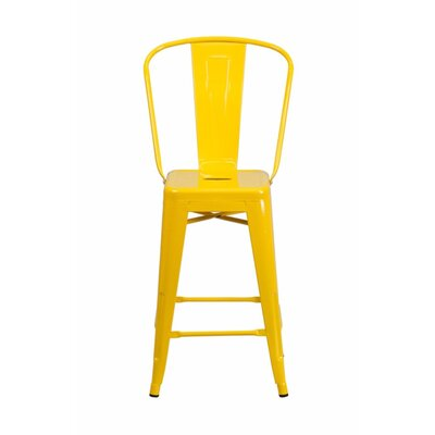Jesse 24 Bar Stool Color: Yellow