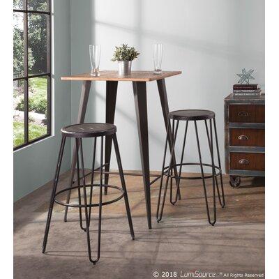 Claremont Pub Table Color: Grey / Brown