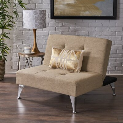 Lewis Solid Click-Clack Oversized Convertible Chair