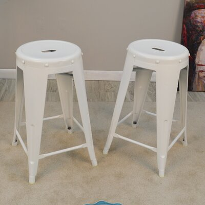 Santa Clara 24 Bar Stool Finish: White