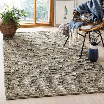 Silvia Hand-Wovn Natural Area Rug Rug Size: Rectangle 5 x 8