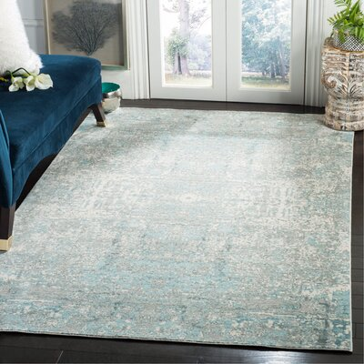 Celeta Teal Area Rug Rug Size: Rectangle 5 x 8