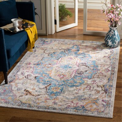Arapaho Blue/Light Gray Area Rug Rug Size: Rectangle 51 x 76