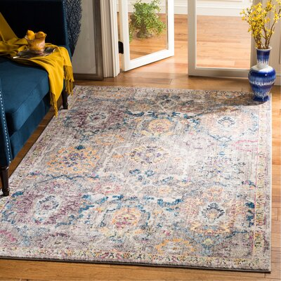 Hailey Gray Area Rug Rug Size: Rectangle 51 x 76