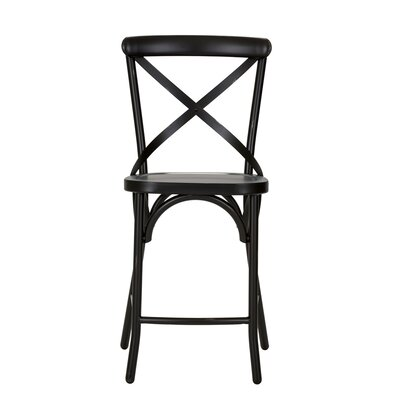South Gate 41 Bar Stool (Set of 2) Finish: Black
