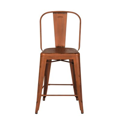 South Gate 26 Bar Stool (Set of 2) Finish: Orange