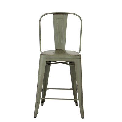 South Gate 26 Bar Stool (Set of 2) Finish: Green