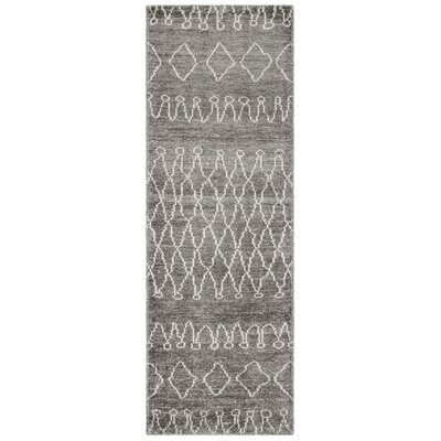 Coolbrook Hand-Knotted Gray/Beige Area Rug Rug Size: Runner 26 x 8