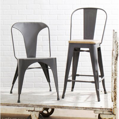 Claremont  Bar Stool Finish: Gray/Brown