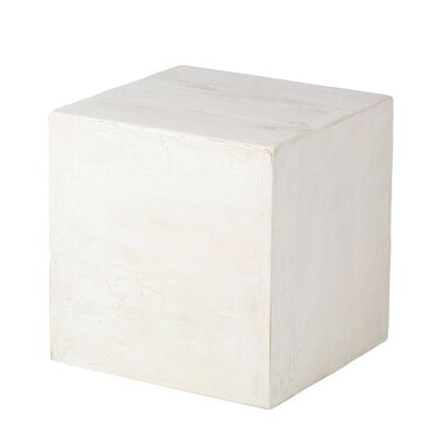 Berowalt Cube End Table Color: Weathered White