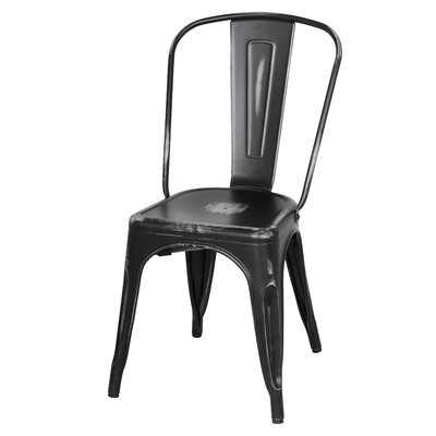 Ellery Side Chair Finish: Distressed Black