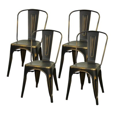 Ellery Side Chair Finish: Distressed Copper