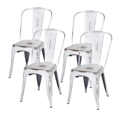 Ellery Side Chair Finish: Distressed White
