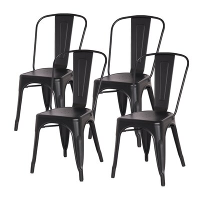 Ellery Side Chair Finish: Frosted Black