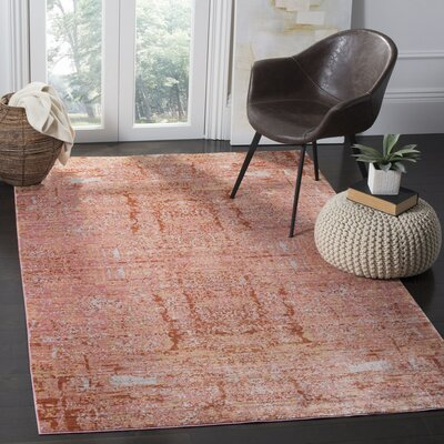 Piers Red Area Rug Rug Size: Rectangle 4 x 6