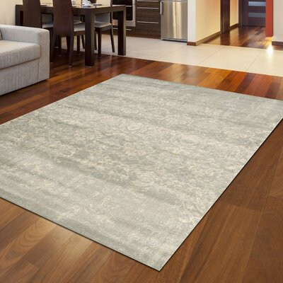 Kingfisher Gray Area Rug Rug Size: Rectangle 53 x 73