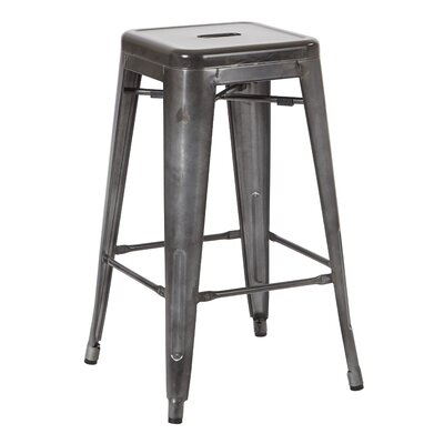 Fineview 26 Bar Stool Finish: Matte Galvanized