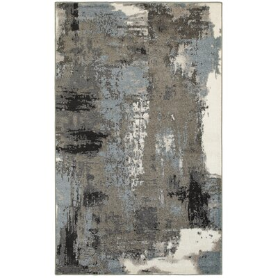 Rockford Blue/Gray Area Rug Rug Size: 79 x 95