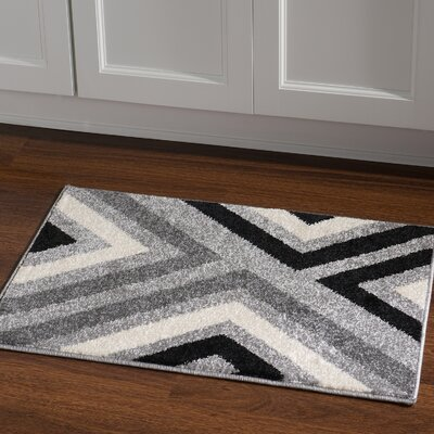 Los Altos Black Area Rug Rug Size: Rectangle 2' x 3'