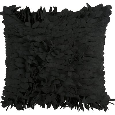 Tonnele Ruffle Throw Pillow Size: 22 H x 22 W x 4 D, Color: Black, Fill: Down