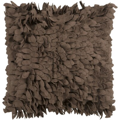 Tonnele Ruffle Throw Pillow Size: 18 H x 18 W x 4 D, Color: Brown, Fill: Down