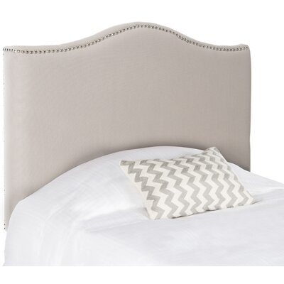 Laken Upholstered Panel Headboard Size: Twin, Finish: Silver